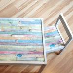 DIY: Günstiger Kindertisch mit Stühlen - in schön!