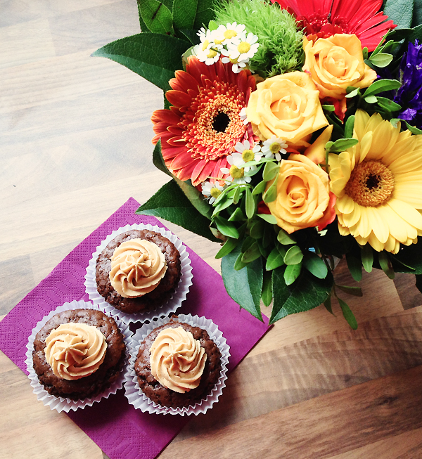 Rezept: Schoko-Cupcakes mit Erdnussbutter-Frosting
