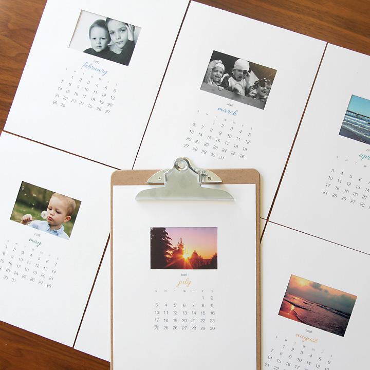 photo-calendar-free-customizable-printable-2016-DIY-Christmas-gift-idea-how-to-make-2