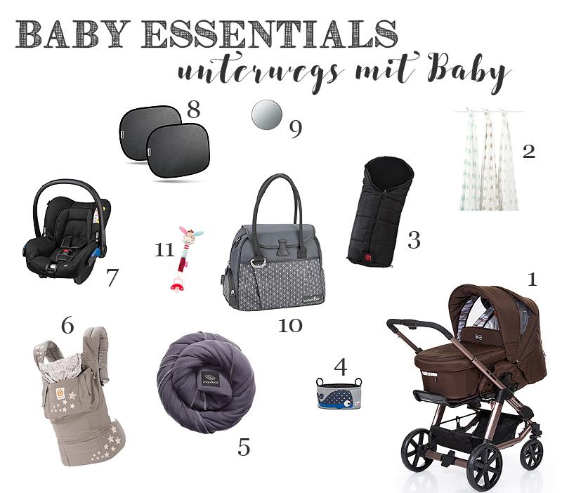 Baby-Essentials: Unterwegs mit Baby