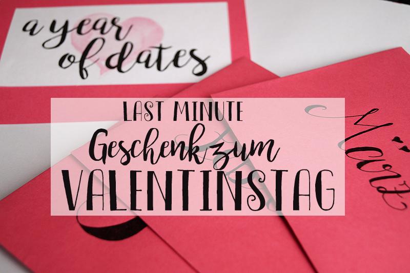 A Year of Dates - Ein Last-Minute-Geschenk für den Valentinstag