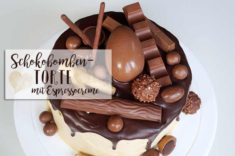 Schokobomben- Torte mit Espresso-Creme
