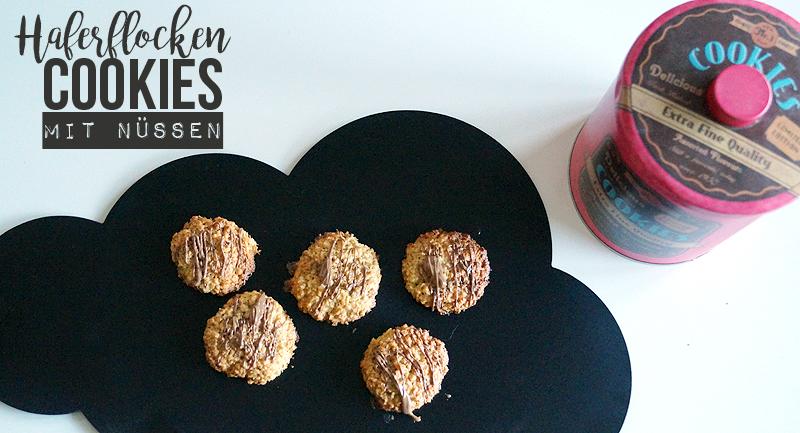 Haferflocken-Cookies mit Nüssen