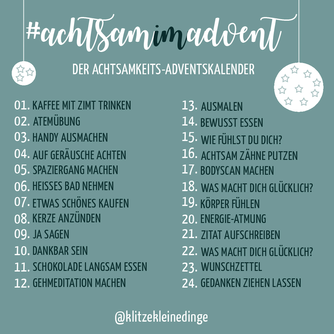 Insta-Challenge: #achtsamimadvent