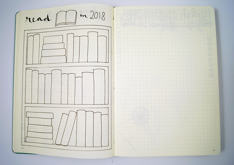 Bullet Journal Setup 2018 - Books