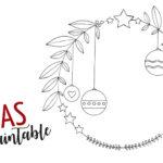 Weihnachts-Printable zum Ausmalen