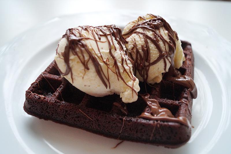 Rezept: Brownie-Waffeln
