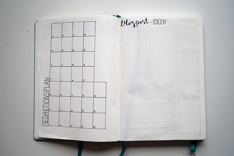 Monatsplanung im Bullet Journal - Januar
