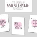 Freebie Friday: lustige Valentinstagskarten zum Ausdrucken