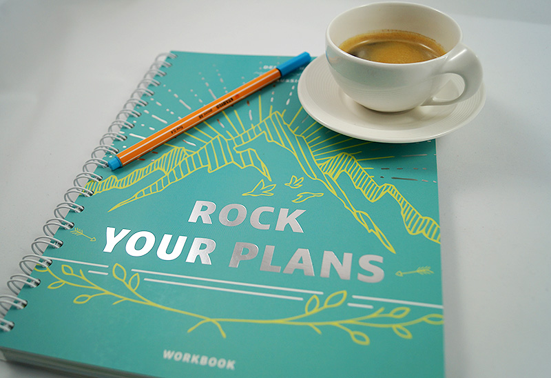 Ziele planen mit dem Rock your plans Workbook