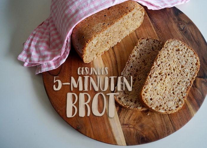Rezept | Gesundes 5-Minuten-Brot mit Vollkorn