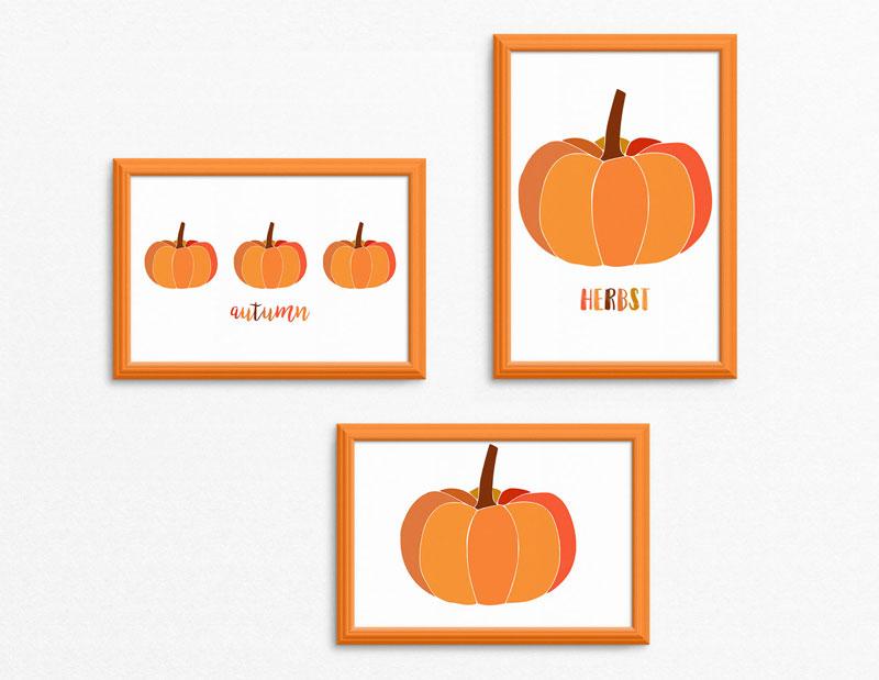 Freebie | Printable | Deko | Herbst | Kürbis | Ausdrucken