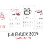 Kalender 2019 zum Ausdrucken für Weinliebhaber