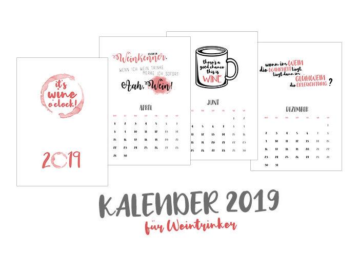 Wein-Kalender 2019 | klitzekleinedinge