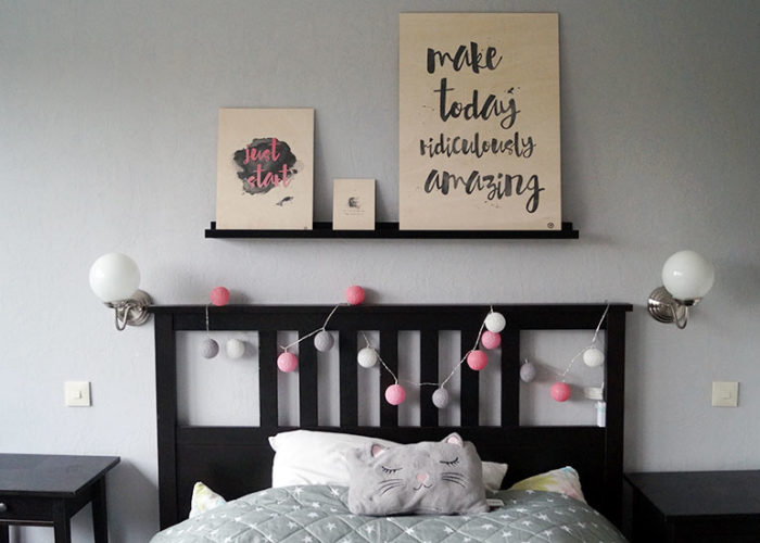 Wandgestaltung mit Holzbildern von Posterlounge