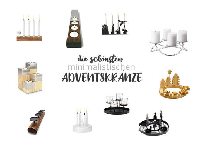 Minimalistische Adventskränze | klitzekleinedinge
